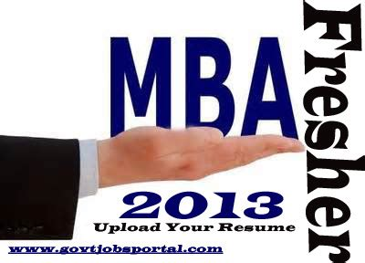 Sample resume for mba fresher